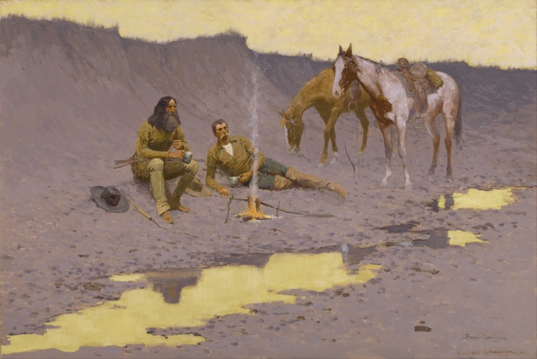 frederic_remington_-_a_new_year_on_the_cimarron_-_google_art_project